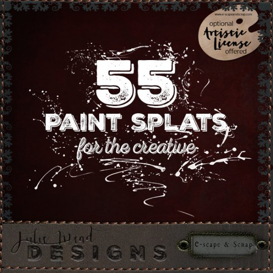 55 Paint Splats for the Creative - Click Image to Close