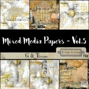 G & T DESIGNS MIXED MEDIA PAPERS - VOL.5