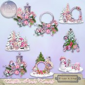 Pink Xmas Cluster (PU/S4H) by Bee Creation