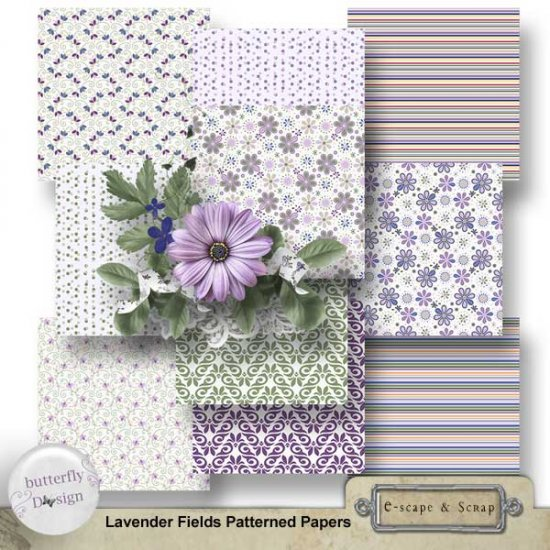 Lavender fields Kit by ButterflyDsign - Click Image to Close