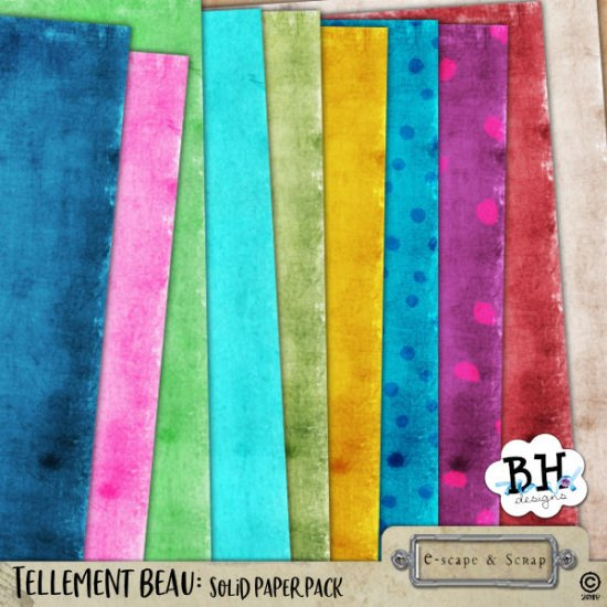 Tellement Beau - Digital Scrapbook Page Kit - Click Image to Close