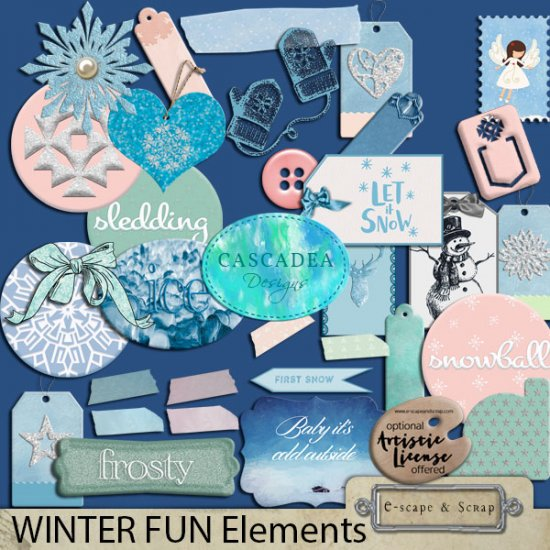 Cascadea Designs WINTER FUN Bundle - Click Image to Close