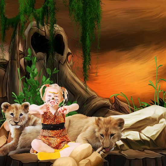 Once Upon A Time The King of The Savannah (PU) by KittyScrap - Click Image to Close