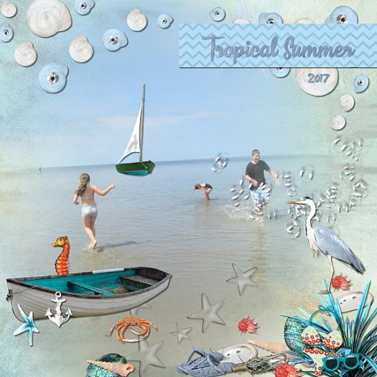 Tropical Summer - kit and album - Click Image to Close