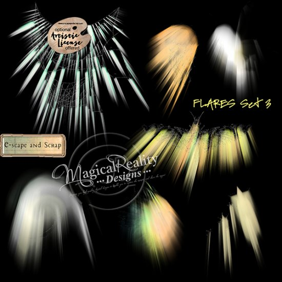 Flares Mixed Media BUNDLE - Click Image to Close
