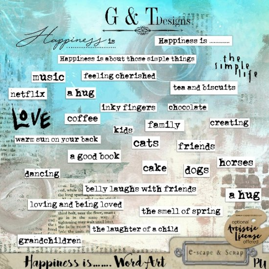 G & T DESIGNS HAPPINESS IS.....KIT - Click Image to Close