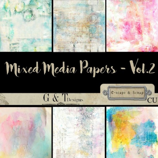G & T DESIGNS MIXED MEDIA PAPERS BUNDLE - Click Image to Close