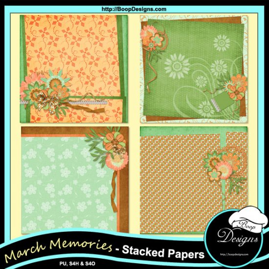March Memories Kit by Boop Designs - Click Image to Close