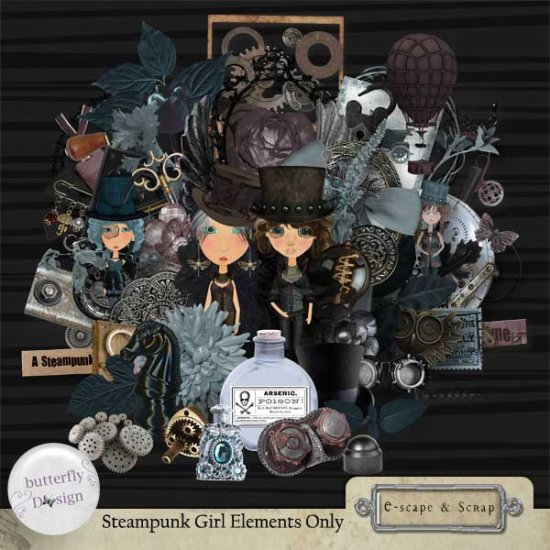 Steampunk Girl kit - Click Image to Close