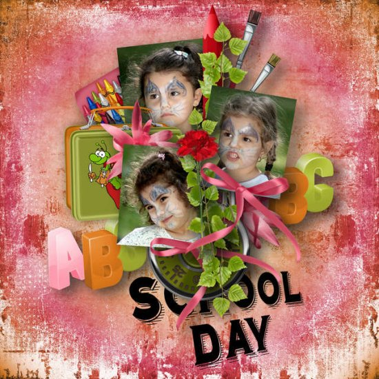 School Day Kit (PU) by Louise L - Click Image to Close