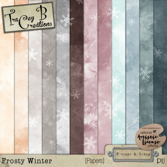 Frosty Winter - Page Kit - Click Image to Close