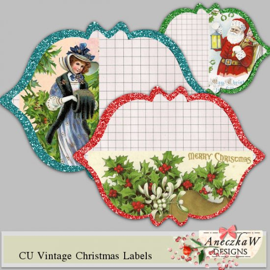 CU Vintage Christmas Labels - Click Image to Close