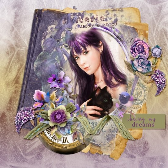 Falling Violets page kit - Click Image to Close