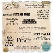 Creative Calm Quiet addon Wordart