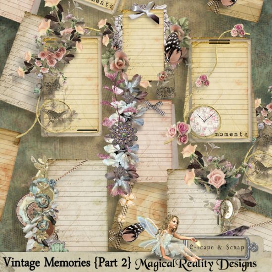 Vintage Memories Part 2 XL Bundle - Click Image to Close