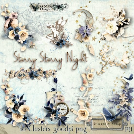 G & T DESIGNS STARRY STARRY NIGHT MEGA KIT - Click Image to Close