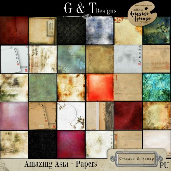 G & T DESIGNS AMAZING ASIA MEGA KIT - RE-RELEASE - Click Image to Close