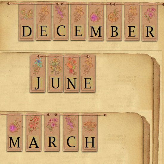 Vintage date papers by AneczkaW - Click Image to Close