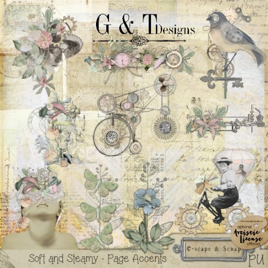 G & T DESIGNS SOFT AND STEAMY MEGA KIT - Click Image to Close