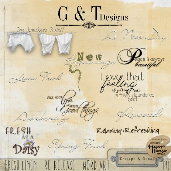 G & T DESIGNS FRESH LINEN RE-RELEASE - Click Image to Close