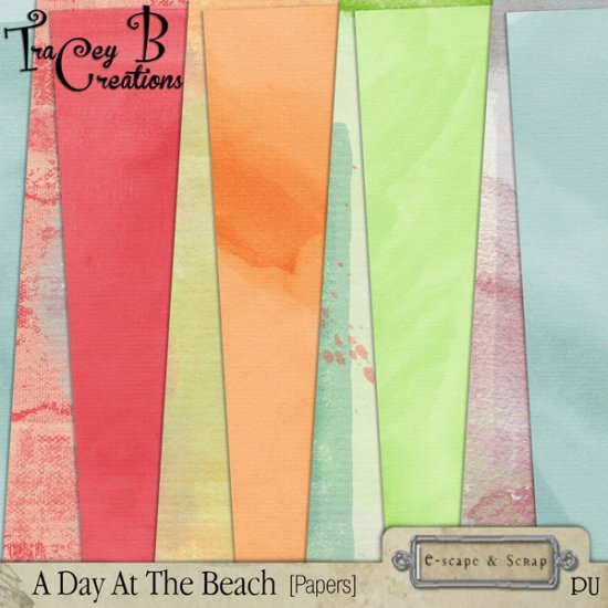 A Day At The Beach - Page Kit - Click Image to Close