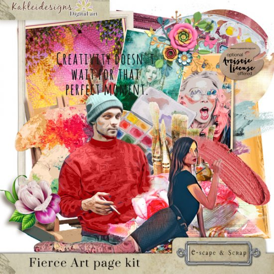 Fierce Art Page kit - Click Image to Close
