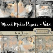 G & T DESIGNS MIXED MEDIA PAPERS - VOL.6