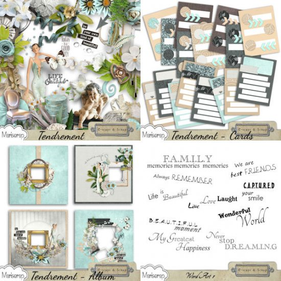 Tendrement - Journaling Cards by Mariscrap - Click Image to Close