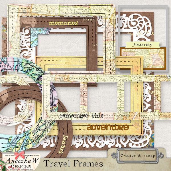 Travel Frames by AneczkaW [CW-190] - $3.00 : e-scapeandscrap.net