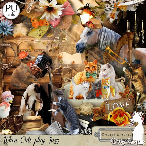 When Cats Play Jazz (PU) by KittyScrap
