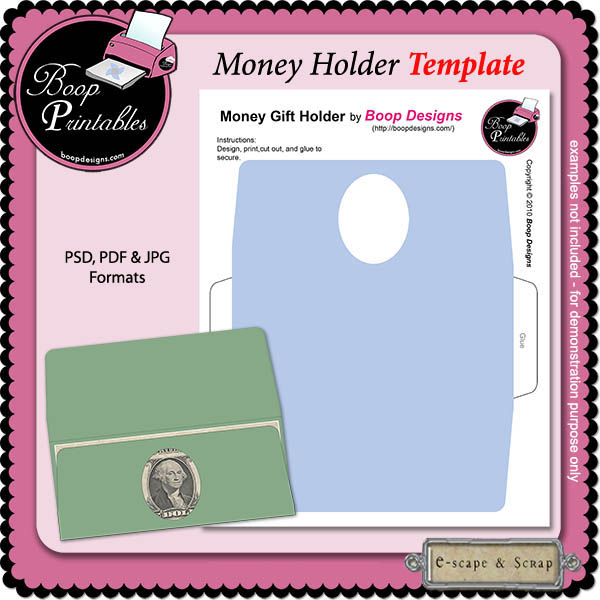graphic relating to Gift Not Included Printable identified as CU Cash Holder TEMPLATE through Boop Printable Types [bp_Monetary