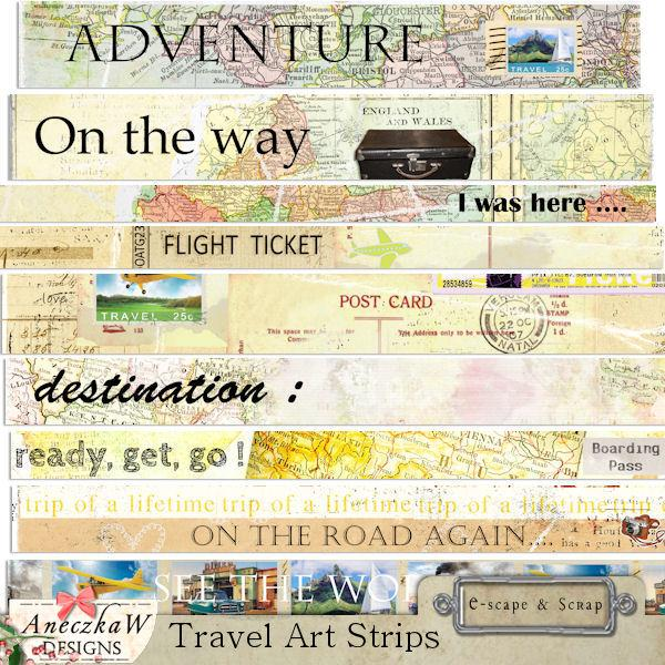 Travel Art Strips