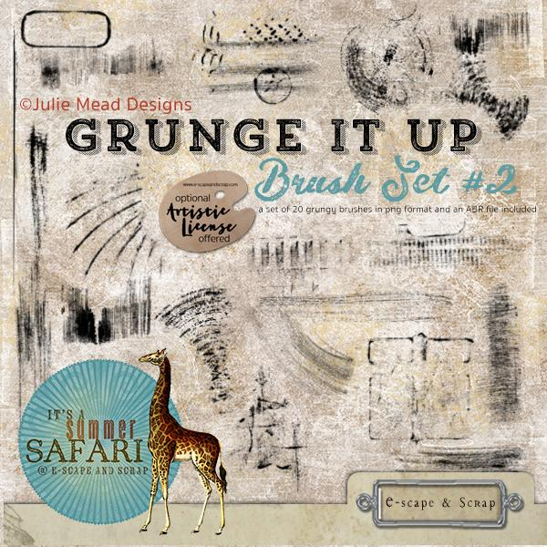 A Summer Safari Grunge It Up Brush Set 2