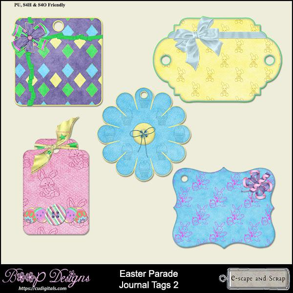Easter Parade Tags 02 by Boop Designs