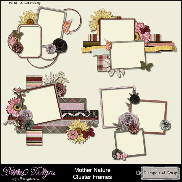Mother Nature Cluster Frames by Boop Designs