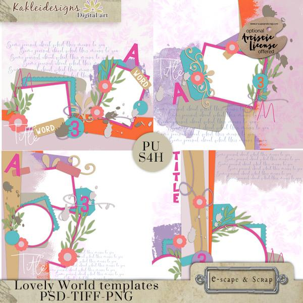 Lovely World Layered templates.