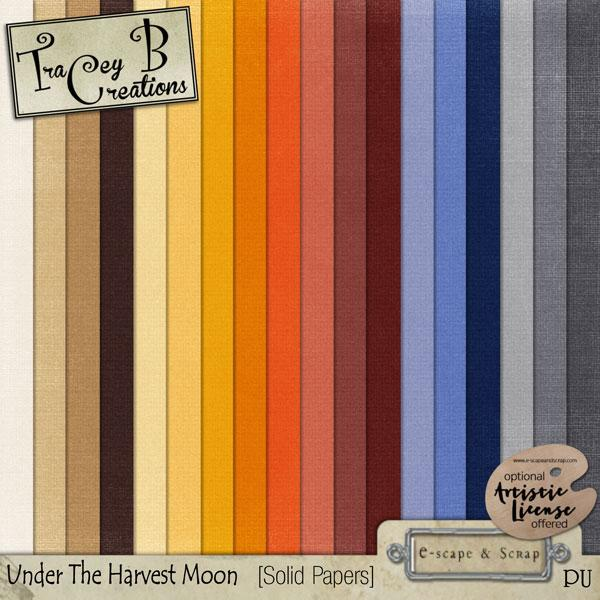Under The Harvest Moon - Solid Papers