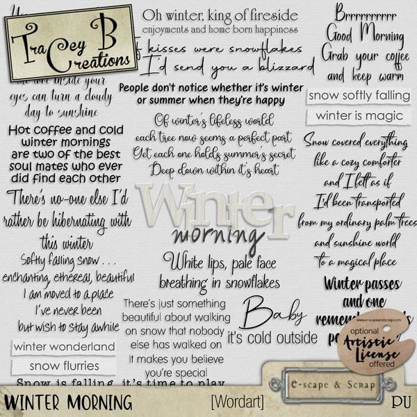 Winter Morning - Wordart
