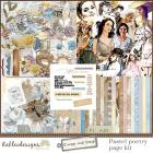 Pastel poetry page kit