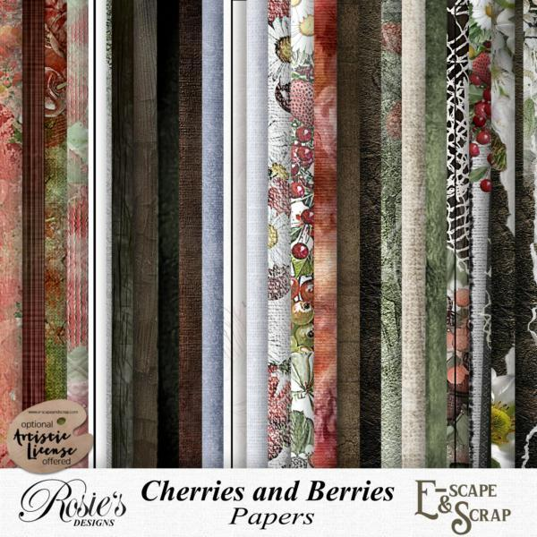 Cherries and Berries Papers